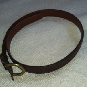 Authentic Coach Accessory Belt Two- Tones Browns
